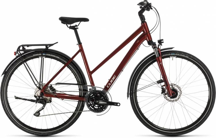 Cube Touring EXC red n grey 2020 - Trekkingrad Damen