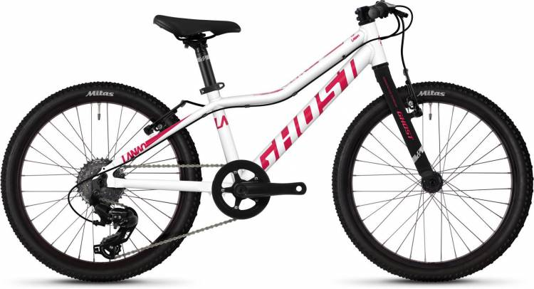 Ghost Lanao R1.0 AL W star white / ruby pink 2020 - Kinderrad 20 Zoll
