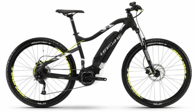 Haibike SDURO HardSeven 1.0 400Wh schwarz/weiß/silber m. 2018 - E-Bike Hardtail Mountainbike