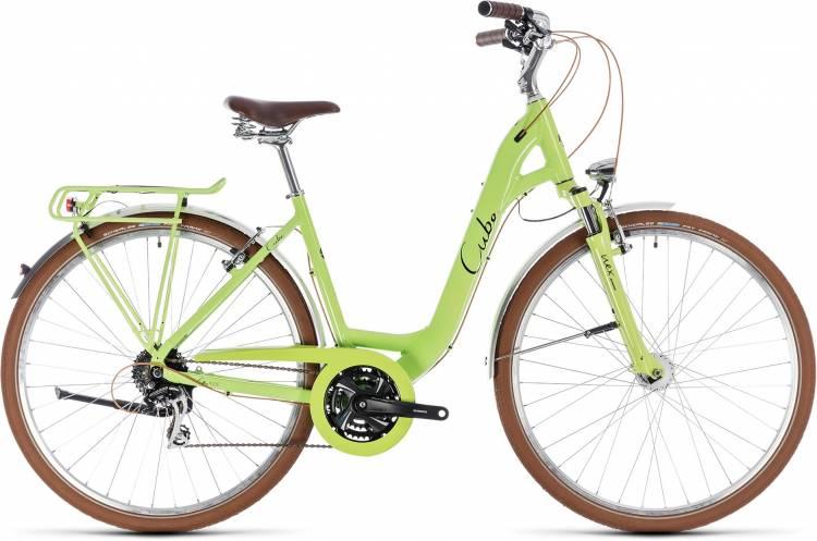 Cube Elly Ride green n black 2018 - Tiefeinsteiger Trekkingrad