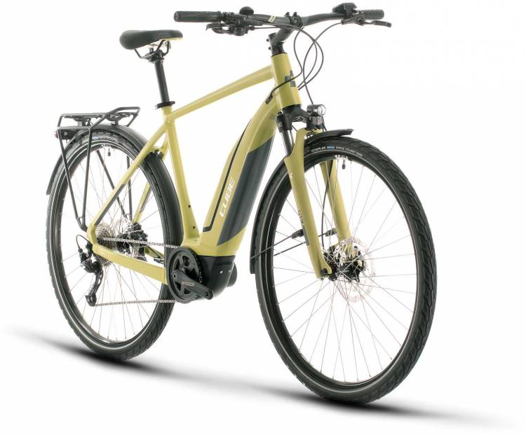 Cube Touring Hybrid ONE 500 green n white 2020 - E-Bike Trekkingrad Herren