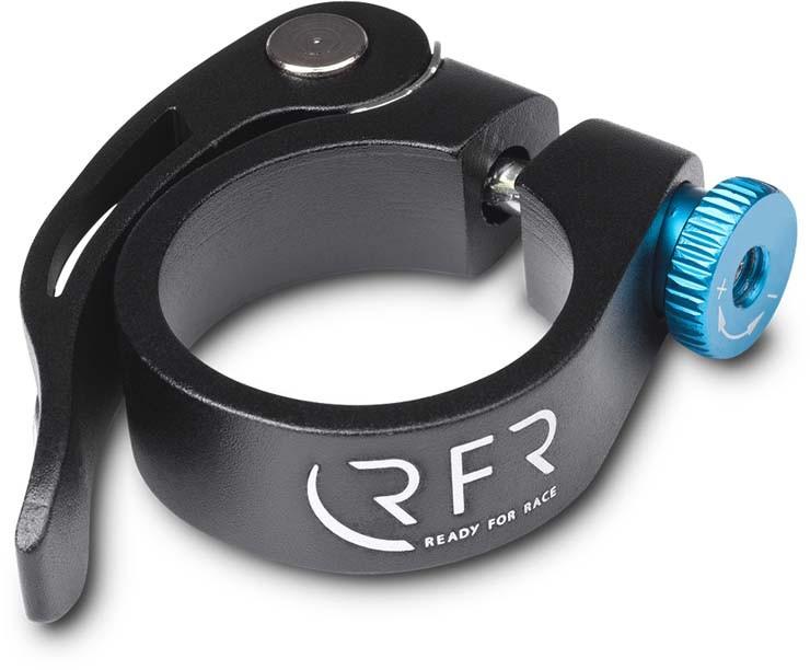 RFR Sattelklemme mit Schnellspanner 31,8 mm black n blue