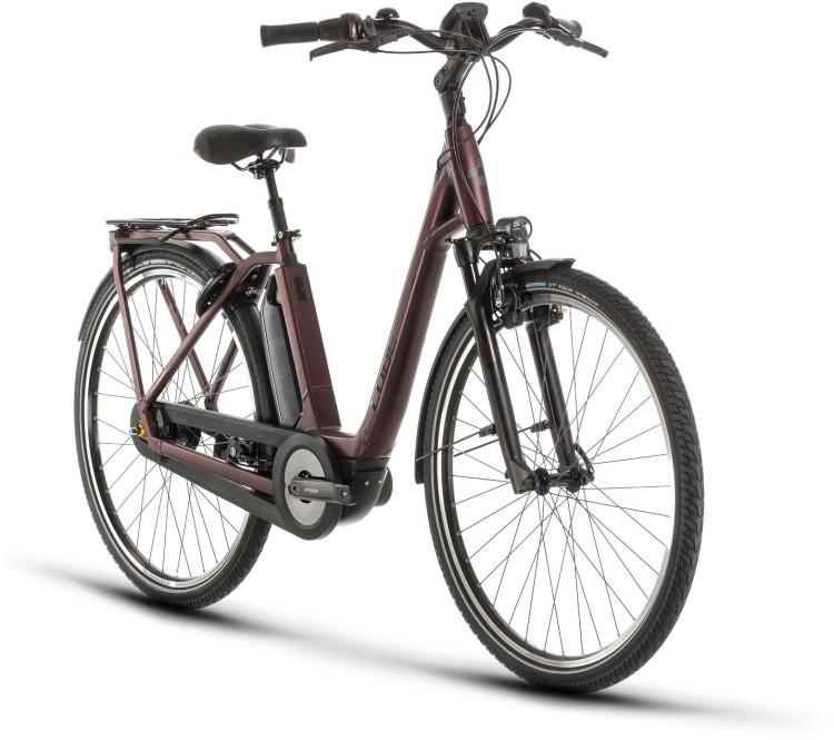 Cube Town Hybrid EXC 500 red n black 2020 - E-Bike Trekkingrad Tiefeinsteiger