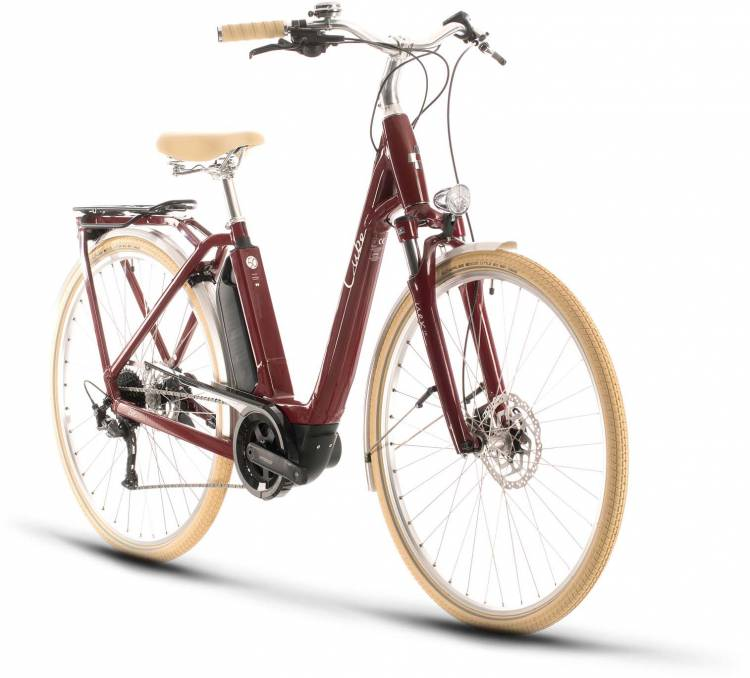 Cube Ella Ride Hybrid 500 red n white 2020 - E-Bike Trekkingrad Tiefeinsteiger