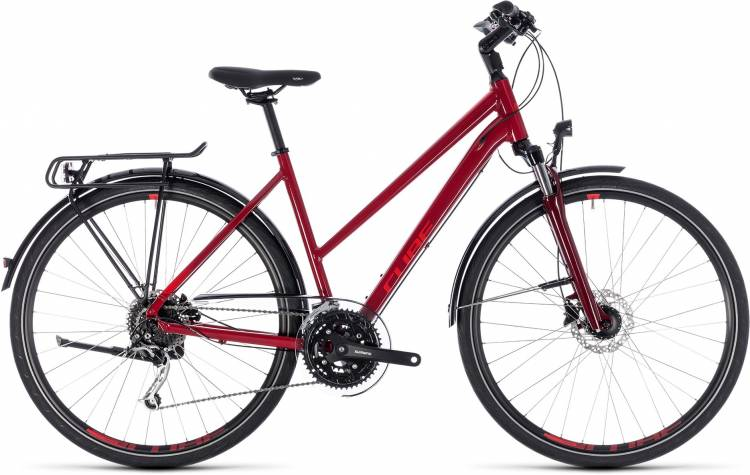 Cube Touring EXC darkred n red 2018 - Damen Trapez Trekkingrad