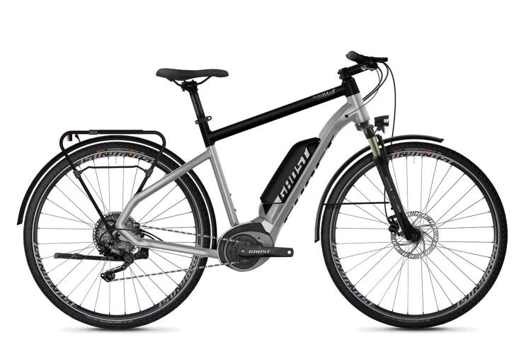 Ghost Hybride Square Trekking B2.8 AL U iridium silver / jet black 2020 - E-Bike Trekkingrad Herren