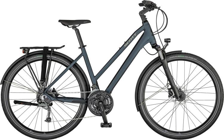 Scott Sub Sport 30 Lady petrol blue / gloss metal beige / black 2021 - Trekkingrad Damen