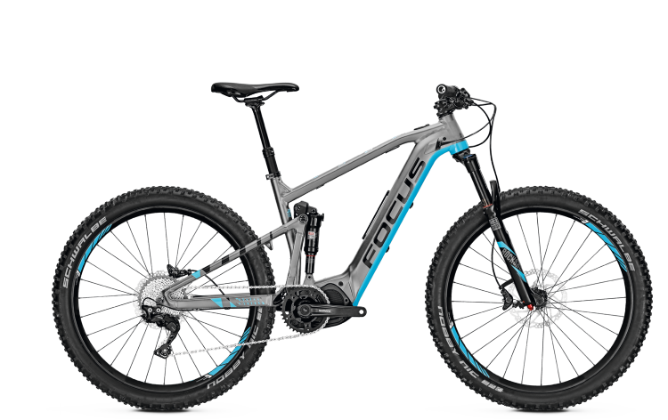 Focus Jam2 27 Plus grey/blue 2017 - E-Bike Fully Mountainbike