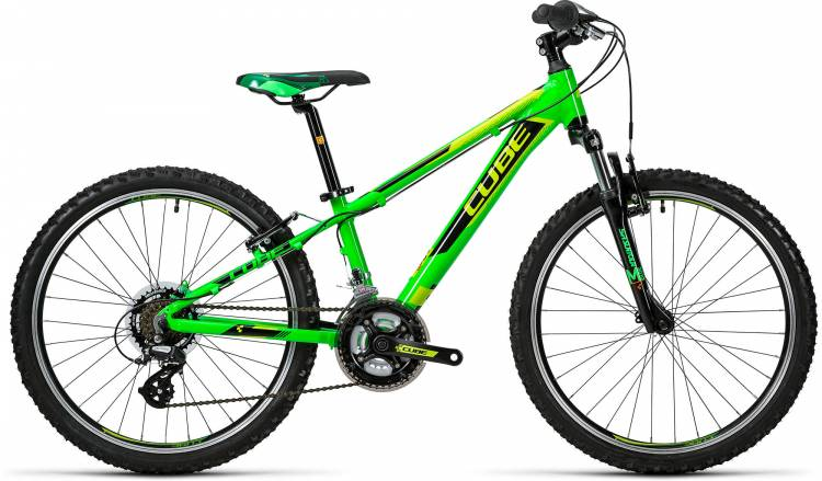 Cube Kid 240 green n black 2016 - Lackschaden