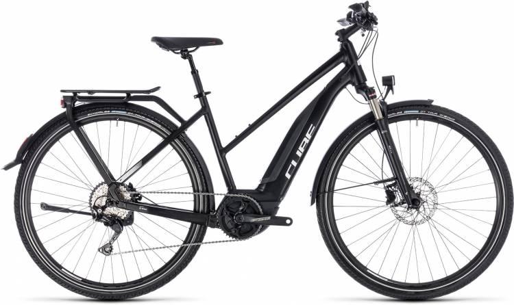 Cube Touring Hybrid Pro 400 black n white 2018 - Damen Trapez E-Bike Trekkingrad