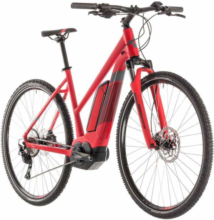 Cube Cross Hybrid Pro 500 red n grey - Trapez 2019