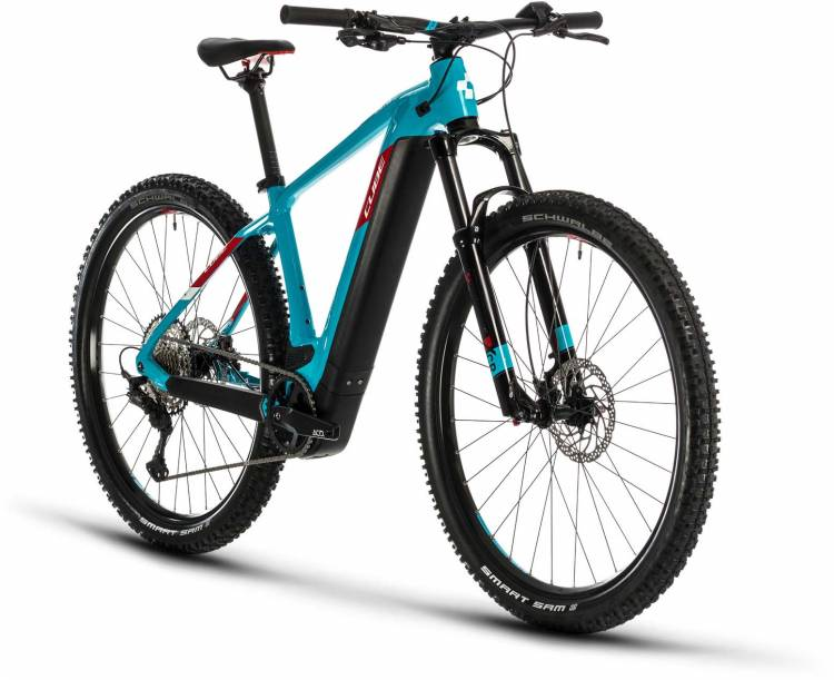 Cube Reaction Hybrid EXC 625 29 petrol n red 2020 - E-Bike Hardtail Mountainbike