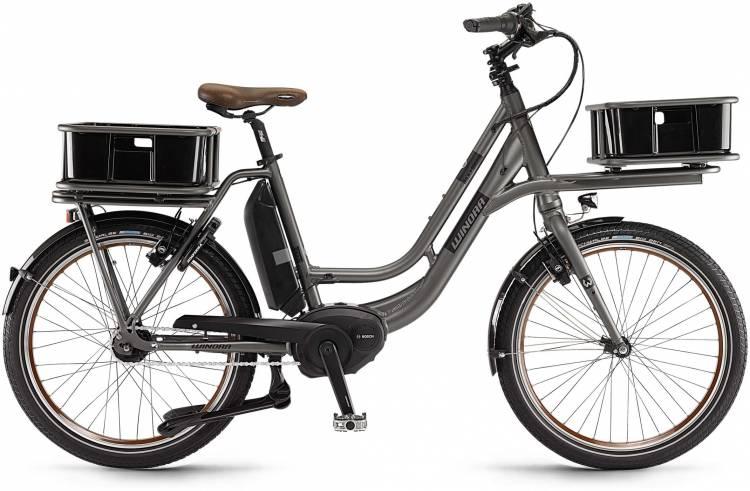 "Winora eLoad 400Wh 24"" FL graphit matt 2017 - Herren E-Bike Fitnessrad"