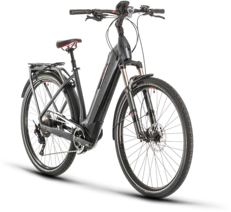 Cube Kathmandu Hybrid EXC 500 iridium n red 2020 - E-Bike Trekkingrad Tiefeinsteiger