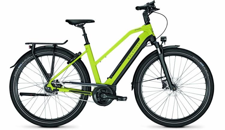 Kalkhoff Image 5.B XXL wasabigreen/magicblack matt (Trapez) 2020 - E-Bike Trekkingrad Damen