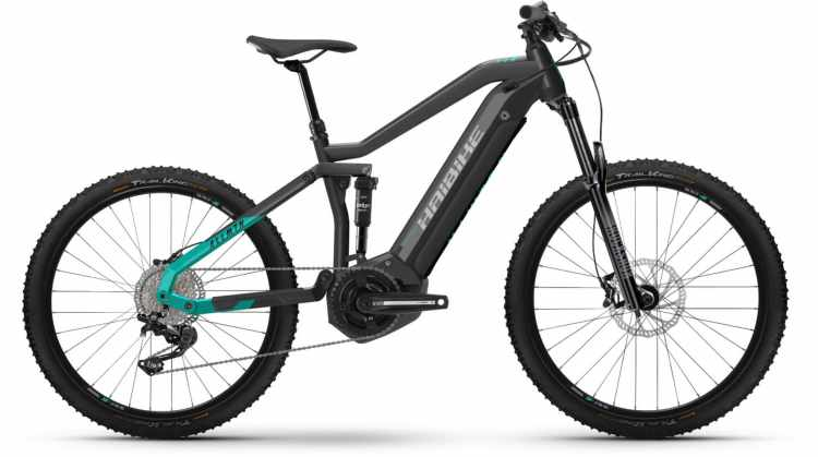 Haibike AllMtn 1 i630Wh anthracite/turqoise 2021 - E-Bike Fully Mountainbike
