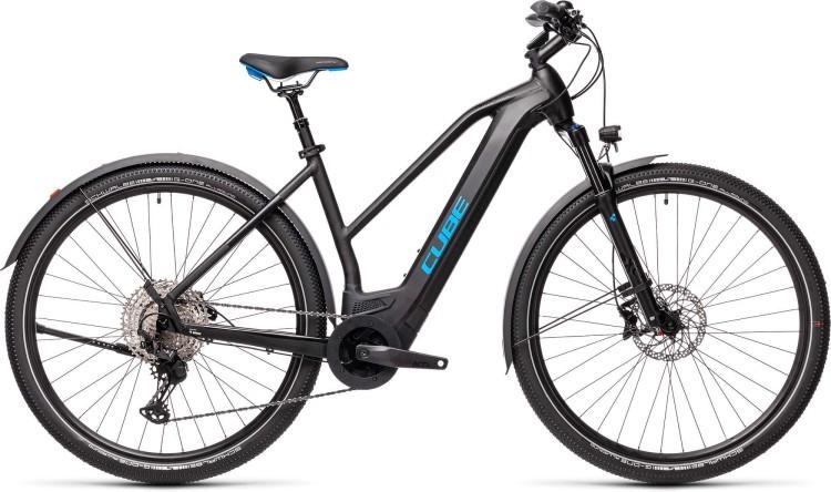 Cube Cross Hybrid Race 625 Allroad black n blue 2021 - E-Bike Crossrad Damen
