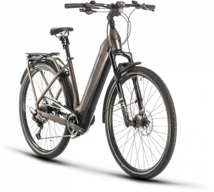 Cube Kathmandu Hybrid SLT 625 teak n silver 2020 - E-Bike Trekkingrad Tiefeinsteiger