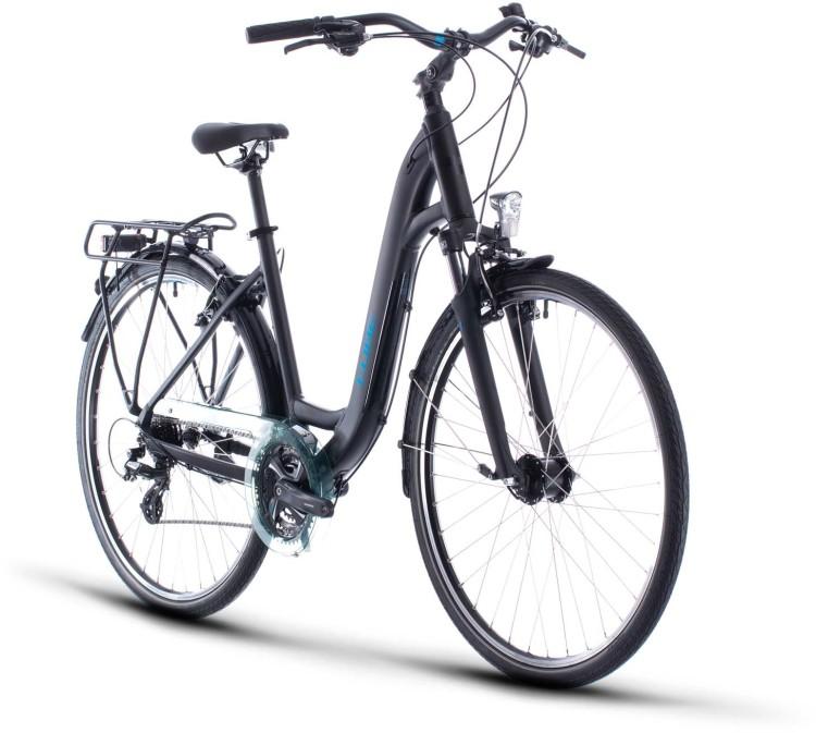 Cube Touring black n blue 2020 - Trekkingrad Tiefeinsteiger