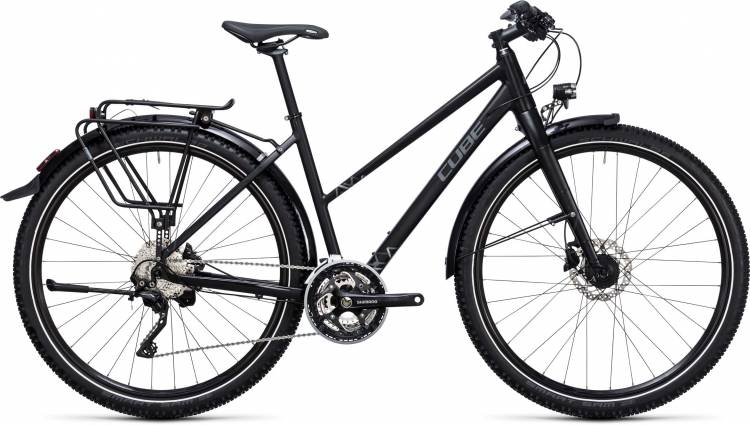 Cube Travel EXC black n grey Damen Trapez 2017