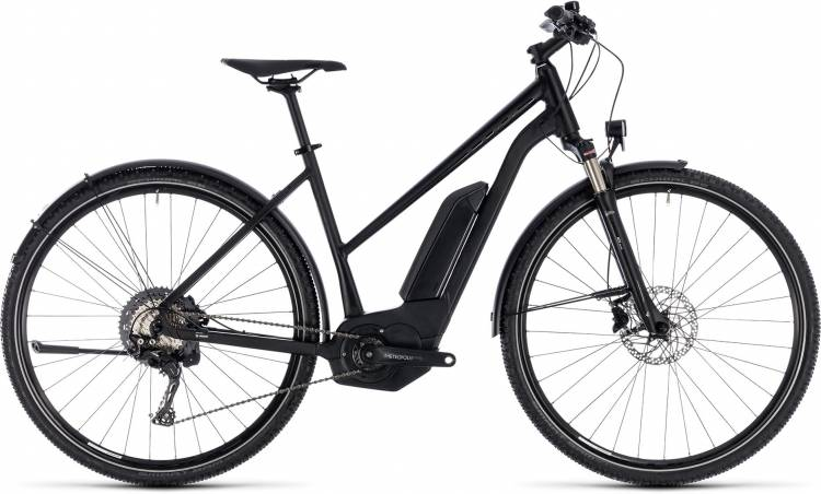 Cube Cross Hybrid Race Allroad 500 black n white 2018 - Damen Trapez E-Bike Crossrad