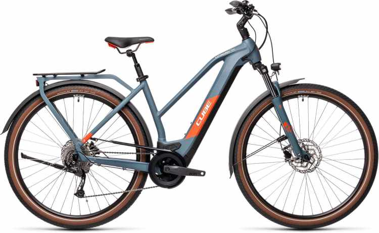 Cube Kathmandu Hybrid ONE 500 blue n red 2021 - E-Bike Trekkingrad Damen