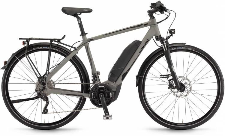 """Winora Y420.X 500Wh 28"""" militarygrey matt 2017 - Herren E-Bike Trekkingrad"""