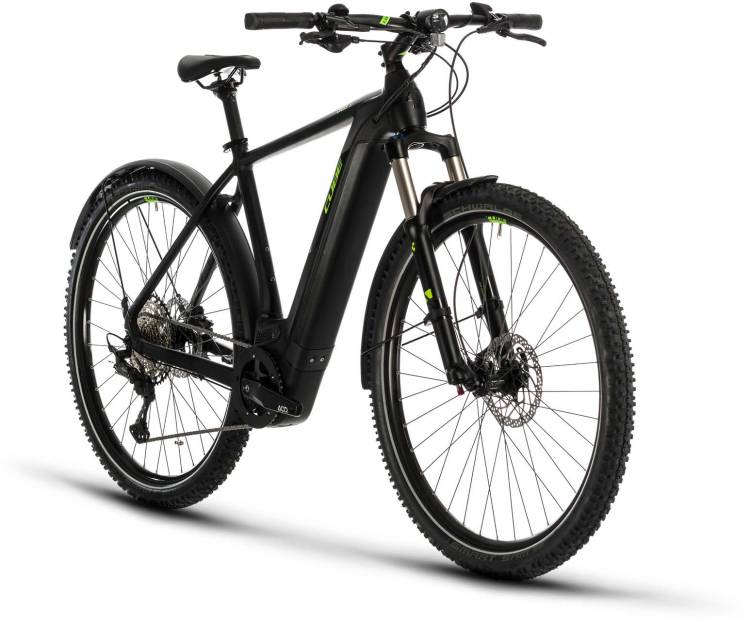 Cube Cross Hybrid Race 625 Allroad black n green 2020 - E-Bike Crossrad Herren