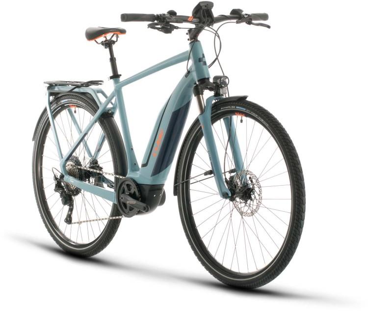 Cube Touring Hybrid EXC 500 blue n orange 2020 - E-Bike Trekkingrad Herren