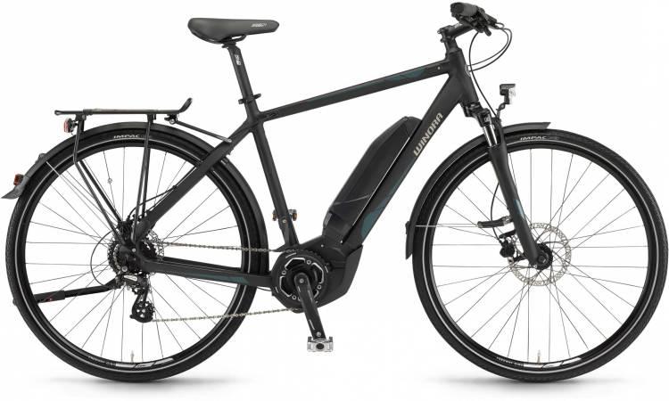 """Winora Y280.X 400Wh 28"""" schwarz matt 2017 - Herren E-Bike Trekkingrad"""