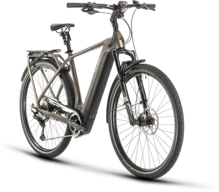 Cube Kathmandu Hybrid SLT 625 teak n silver 2020 - E-Bike Trekkingrad Herren
