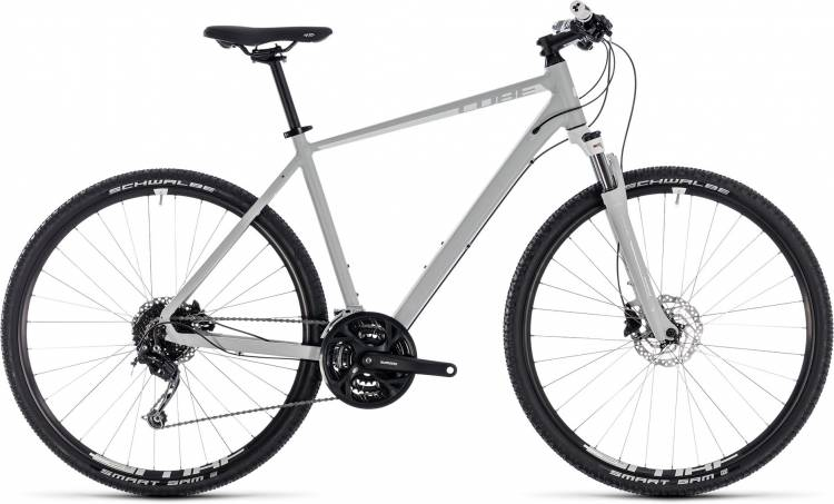 Cube Nature Pro bright grey n white 2018 - Herren Crossrad