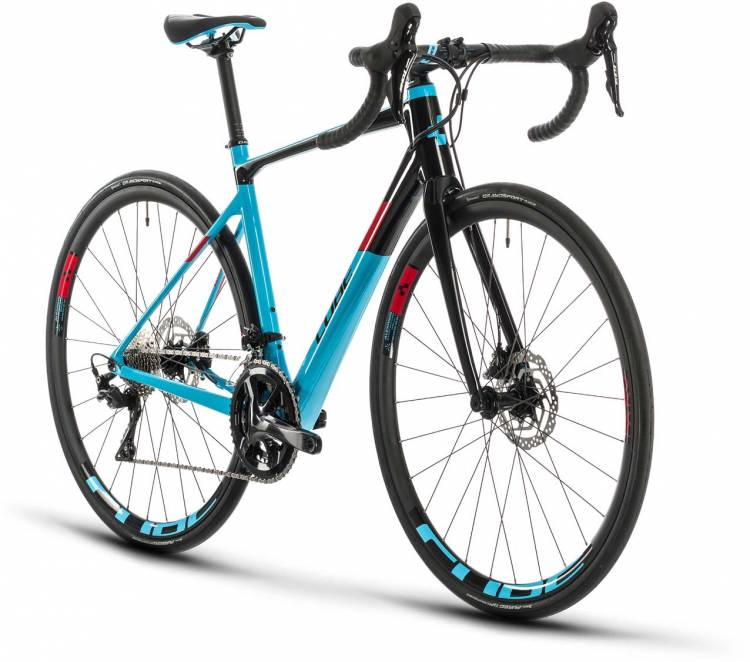 Cube Axial WS GTC Pro lightblue n red 2020 - Carbon Rennrad Damen