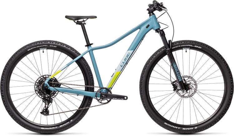 Cube Access WS SL greyblue n lime 2021 - Hardtail Mountainbike Damen