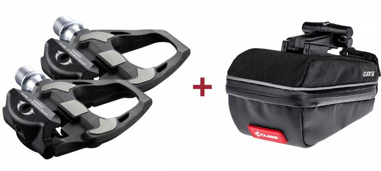 Shimano Pedal ULTEGRA PD-R8000 + Cube Satteltasche CLICK M