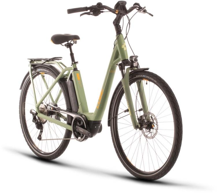 Cube Town Sport Hybrid Pro 500 green n orange 2020 - E-Bike Trekkingrad Tiefeinsteiger