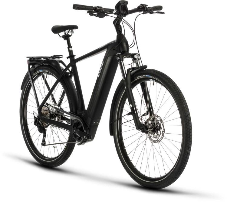 Cube Kathmandu Hybrid Pro 500 black n white 2020 - E-Bike Trekkingrad Herren