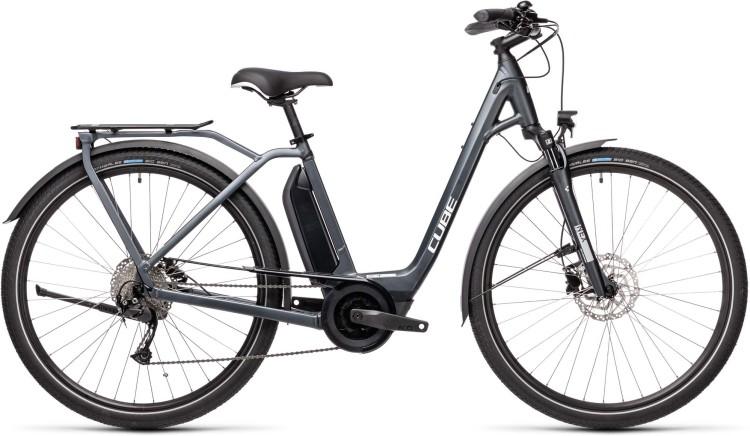 Cube Town Sport Hybrid ONE 500 iridium n grey 2021 - E-Bike Trekkingrad Tiefeinsteger