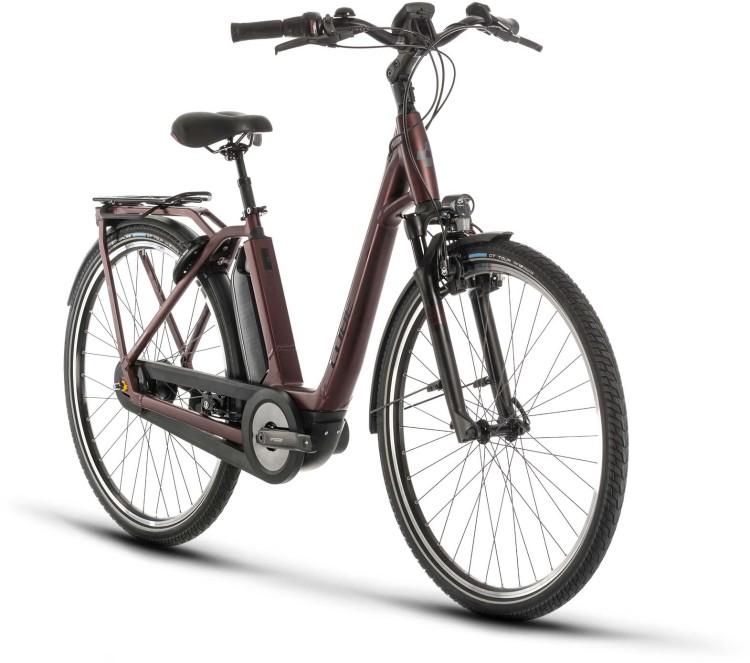 Cube Town Hybrid EXC RT 500 red n black 2020 - E-Bike Trekkingrad Tiefeinsteiger