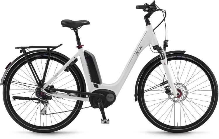 """Sinus Tria 8 400Wh 28"""" weiß 2017 - Tiefeinsteiger E-Bike Trekkingrad"""