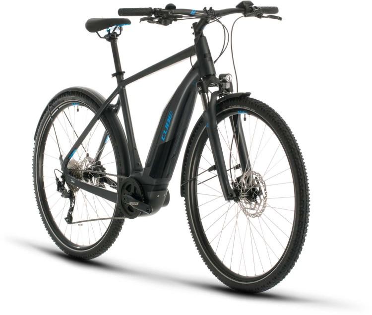 Cube Nature Hybrid ONE 400 Allroad iridium n blue 2020 - E-Bike Crossrad Herren