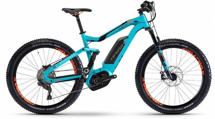 Haibike XDURO FullSeven 6.0 500Wh cyan/anthr./orange matt 2017 - E-Bike Fully Mountainbike