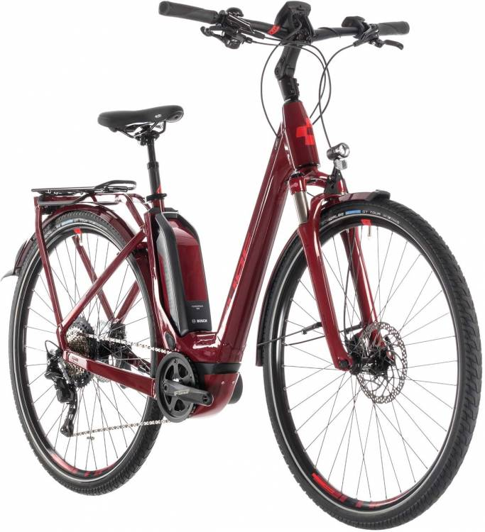 Cube Touring Hybrid EXC 500 darkred n red - Easy Entry 2019 - Lackschaden