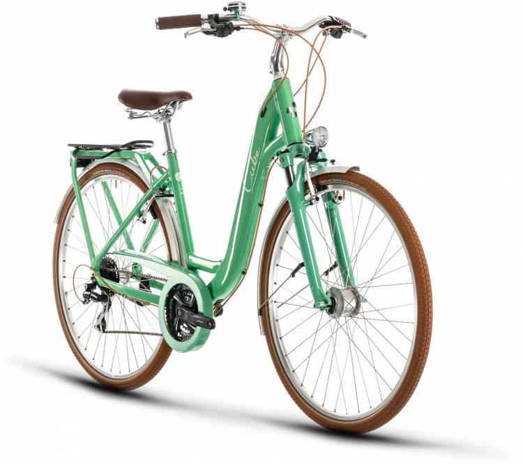 Cube Ella Ride green n cream 2020 - Trekkingrad Tiefeinsteiger