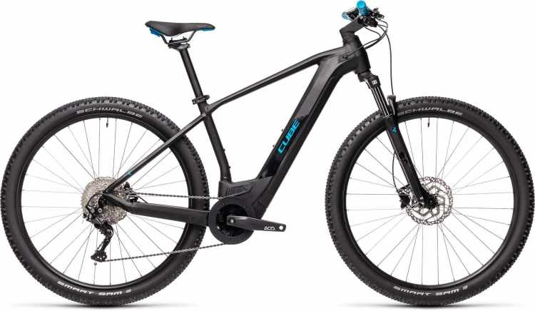Cube Reaction Hybrid ONE 500 29 black n blue 2021 - E-Bike Hardtail Mountainbike