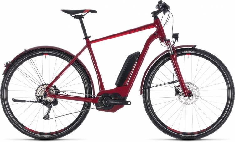 Cube Cross Hybrid Pro Allroad 400 darkred n red 2018 - Herren E-Bike Crossrad