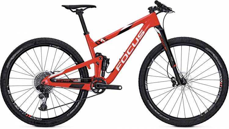 Focus O1E Team 29 red/white 2017 - Fully Mountainbike