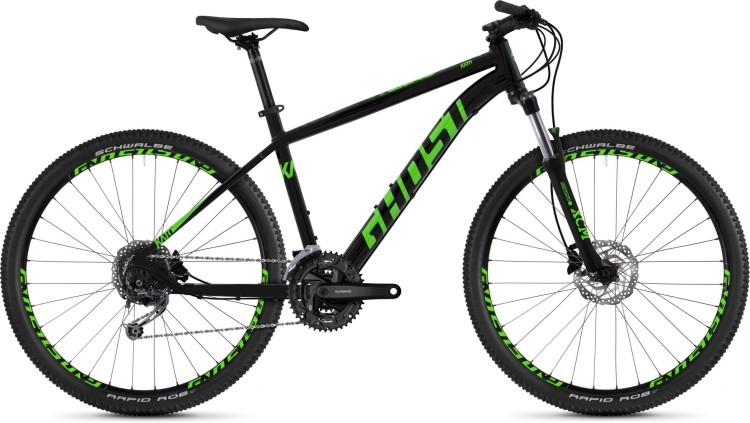Ghost Kato 4.7 AL U night black / riot green 2020 - Hardtail Mountainbike