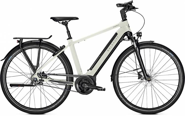 Kalkhoff Image 5.B Belt starwhite/magicblack glossy (Diamond) 2020 - E-Bike Trekkingrad Herren