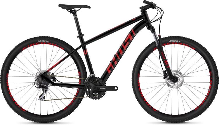Ghost Kato 2.9 AL U jet black / riot red 2020 - Hardtail Mountainbike